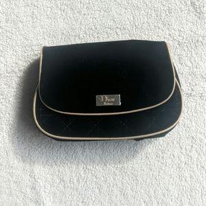Dior Parfums Black Velvet Quilted Bag